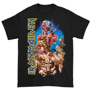 Camiseta Básica Banda Heavy Metal Iron Maiden Somewhere Back In Time