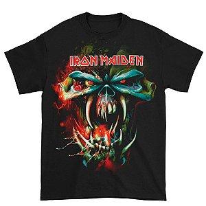Camiseta Básica Banda Heavy Metal Iron Maiden TFF Face 2010 Tour