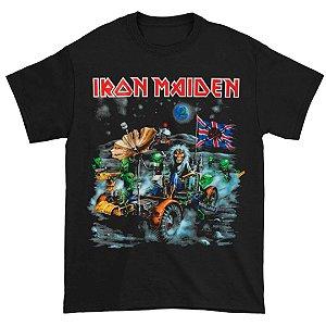 Camiseta Básica Banda Heavy Metal Iron Maiden Knebworth Moonbuggy