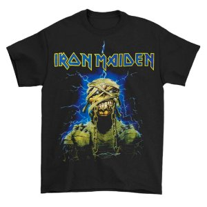 Camiseta Básica Banda Heavy Metal Iron Maiden Powerslave Mummy