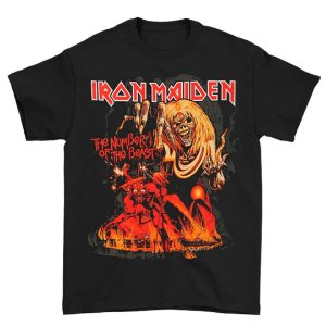 Camiseta Básica Banda Heavy Metal Iron Maiden Number Of The Beast