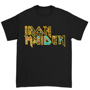 Camiseta Básica Banda Heavy Metal Iron Maiden Logo