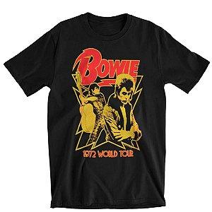 Camiseta Básica Cantor David Bowie 1972 World Tour
