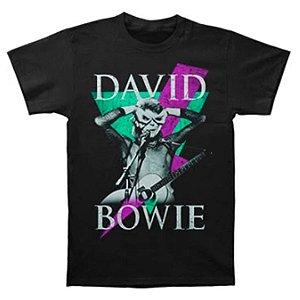 Camiseta Básica Cantor David Bowie Thunder