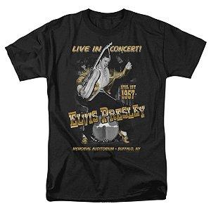 Camiseta Básica Cantor Elvis Presley Live In Buffalo