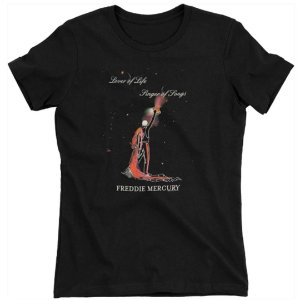 Camiseta Básica Cantor Freddie Mercury Rainbow Girls