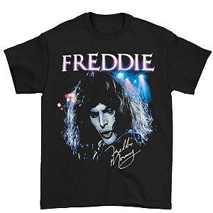 Camiseta Básica Cantor Freddie Mercury Assinatura
