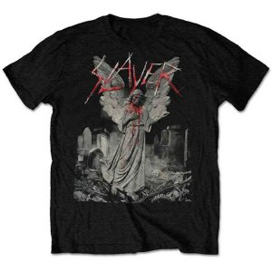 Camiseta Básica Banda Thrash Metal Slayer Gravestone Walks