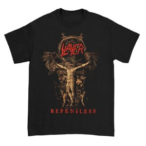 Camiseta Básica Banda Thrash Metal Slayer Cruciform Skeletal