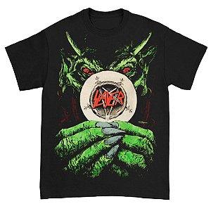 Camiseta Básica Banda Thrash Metal Slayer Root Of All Evil