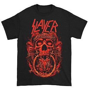 Camiseta Básica Banda Thrash Metal Slayer Crown Of Thorns