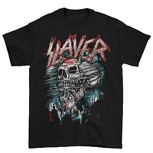 Camiseta Básica Banda Thrash Metal Slayer Demon Storm