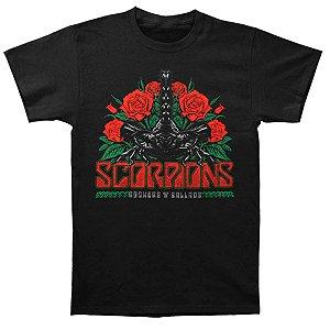 Camiseta Básica Banda Rock Scorpions Rocker Ballad