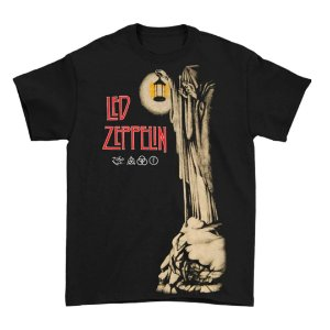 Camiseta Básica Banda Rock Led Zeppelin Hermit Black