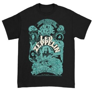 Camiseta Básica Banda Rock Led Zeppelin Electric Magic Black