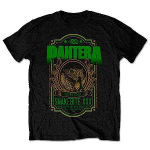 Camiseta Básica Banda Pantera Thrash Metal Snakebite XXX