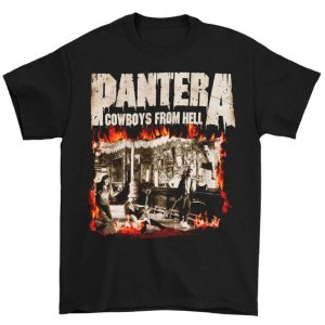 Camiseta Básica Banda Pantera Thrash Metal Cowboys From Hell