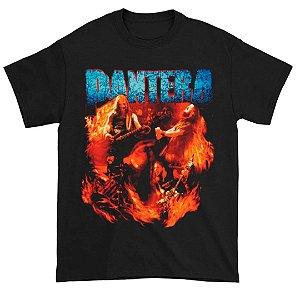 Camiseta Básica Banda Pantera Thrash Metal Band Flames