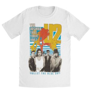 Camiseta Básica Banda Rock U2 Bullet The Blue Sky