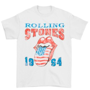 Camiseta Básica Banda Rock The Rolling Stones 1994 Stones