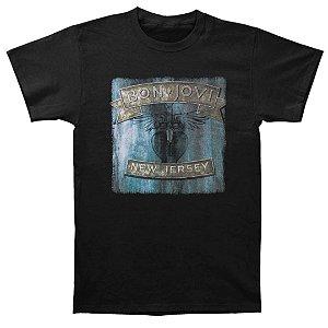 Camiseta Básica Banda Rock Bon Jovi New Jersey
