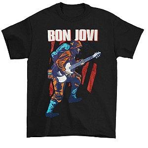 Camiseta Básica Banda Rock Bon Jovi Because We Can Tour 2013