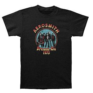 Camiseta Básica Banda Rock Aerosmith Dream On