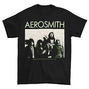 Camiseta Básica Banda Rock Aerosmith America's Greatest