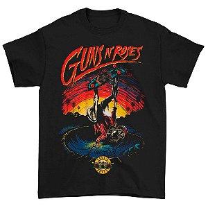 Camiseta Básica Banda Rock Guns N' Roses Skate