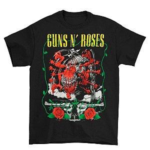 Camiseta Básica Banda Rock Guns N' Roses Appetite Creature
