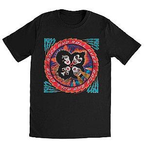 Camiseta Básica Banda Rock Kiss Rock And Roll Over