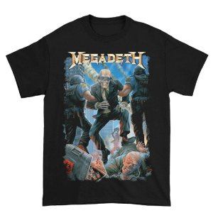 Camiseta Básica Banda Heavy Metal Megadeth Vic Taken Away