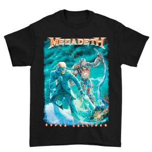 Camiseta Básica Banda Heavy Metal Megadeth Vic Canister