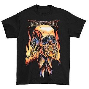 Camiseta Básica Banda Heavy Metal Megadeth Vic Rattlehead