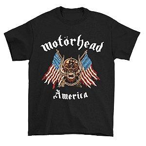 Camiseta Básica Banda Heavy Metal Motörhead America