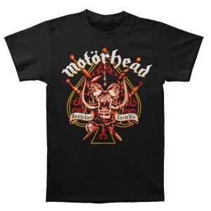 Camiseta Básica Banda Heavy Metal Motörhead Sword Spade
