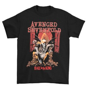 Camiseta Básica Banda Heavy Metal Avenged Sevenfold A7X Hail to the King