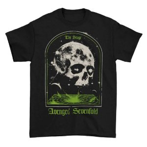 Camiseta Básica Banda Heavy Metal Avenged Sevenfold AVS The Stage Skull