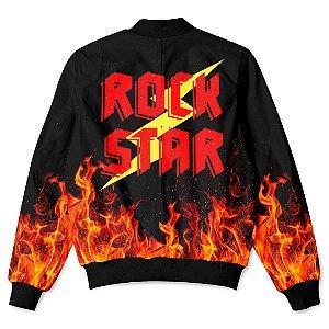 Jaqueta Bomber com Bolsos Rock Star Fire