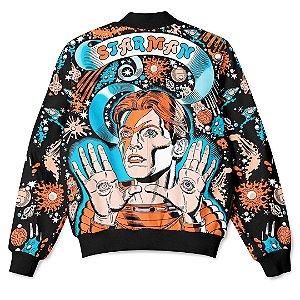 Jaqueta Bomber com Bolsos Cantor David Bowie Starman