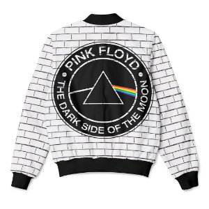 Jaqueta Bomber com Bolsos Banda Pink Floyd The Dark Side