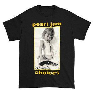 Camiseta Básica Banda Rock Pearl Jam Choices
