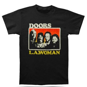 Camiseta Básica Banda Rock Doors L.A. Woman