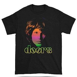 Camiseta Básica Banda Rock Doors Morrison Gradient