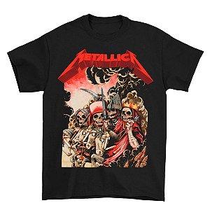 Camiseta Básica Banda Heavy Metal Metallica The Four Horsemen