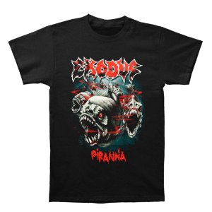 Camiseta Básica Banda Thrash Metal Exodus Piranha