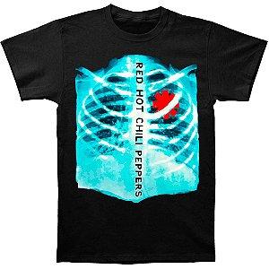 Camiseta Básica Banda Rock Red Hot Chili Peppers Raio-X