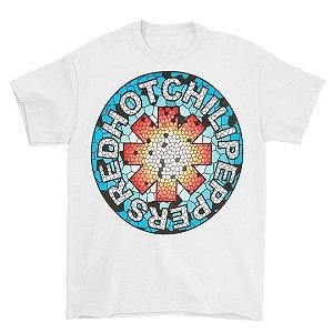 Camiseta Básica Banda Rock Red Hot Chili Peppers Mosaico