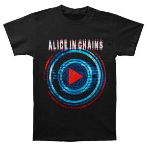 Camiseta Básica Banda Rock Alice In Chains Play Button Tour