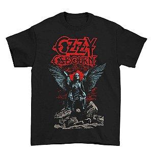 Camiseta Básica Lendas Do Rock Cantor Ozzy Osborne Angel Wings